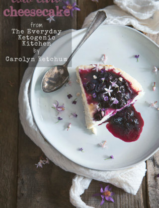 Low Carb Cheesecake from The Everyday Ketogenic Kitchen Cookbook {Giveaway}