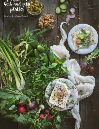 Persian Herb and Feta Platter (Sabzi Khordan) by FamilySpice.com