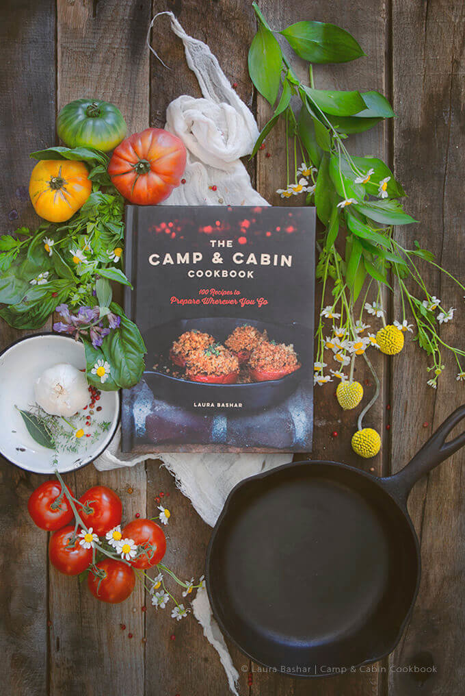 The Camp & Cabin Cookbook: 100 Recipes to Prepare Wherever You Go by Laura Bashar of FamilySpice.com