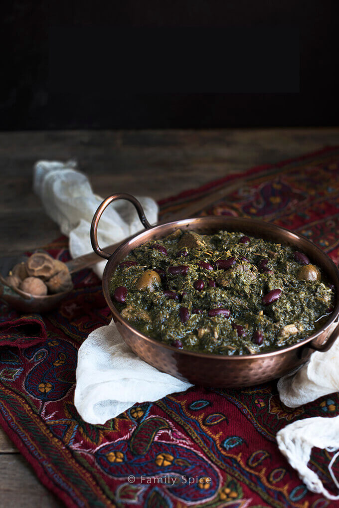 Khoreshteh Gormeh Sabzi (Persian Herb Stew with Beef) by FamilySpice.com