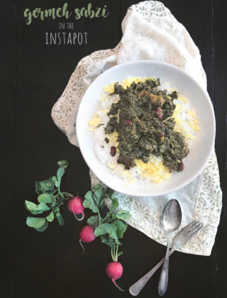 Instant Pot Gormeh Sabzi (Persian Herb Stew with Beef) by FamilySpice.com