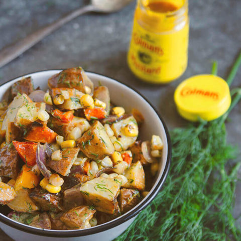 Grilled Potato Salad with Mustard and Dill Dressing by FamilySpice.com