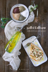 Grilled Halloumi with Olive Oil and Za'atar by FamilySpice.com