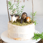 pinterest image for woodland cake by FamilySpice.com