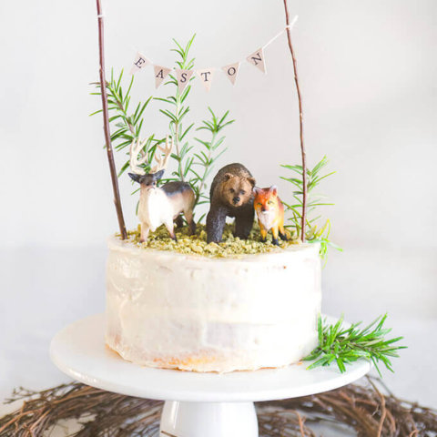 Woodland Cake with Cream Cheese Frosting