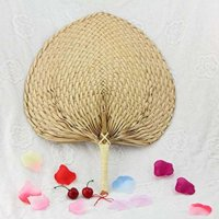 Natural Raffia Hand Fan
