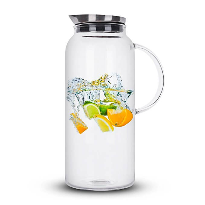 68 Ounces Glass Pitcher with Lid