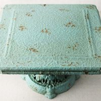 Turquoise Metal Cake Stand