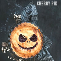 Jack Skellington Balsamic Cherry Pie