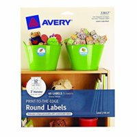 2-inch Round Glossy White Labels
