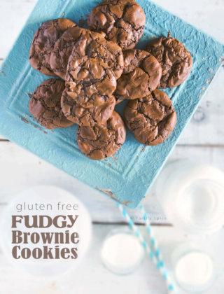 Gluten-Free Fudgy Brownie Cookies by FamilySpice.com