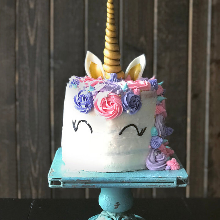 Pleasing Everything On How To Make A Unicorn Cake With Rainbow Layers Personalised Birthday Cards Veneteletsinfo