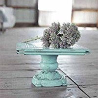 "Richland Turquoise Turn of The Century Decorative Metal Pedestal 10.75"" Square"