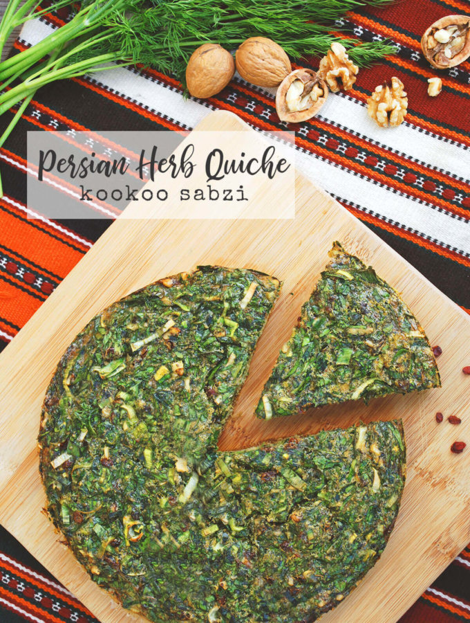 Persian Herb Quiche (Kookoo Sabzi) for Nowruz by FamilySpice.com