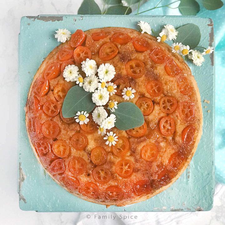 Kumquat Upside Down Cake