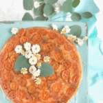 Pinterest image for upside down kumquat cake by FamilySpice.com