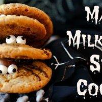 Malted Milk Ball Spider Cookies