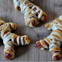 Mummy Dogs With Cut Arms & Legs
