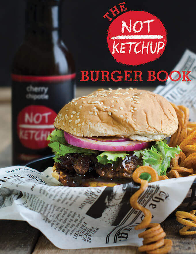 Not Ketchup Hamburger E-Cookbook Cover by FamilySpice.com