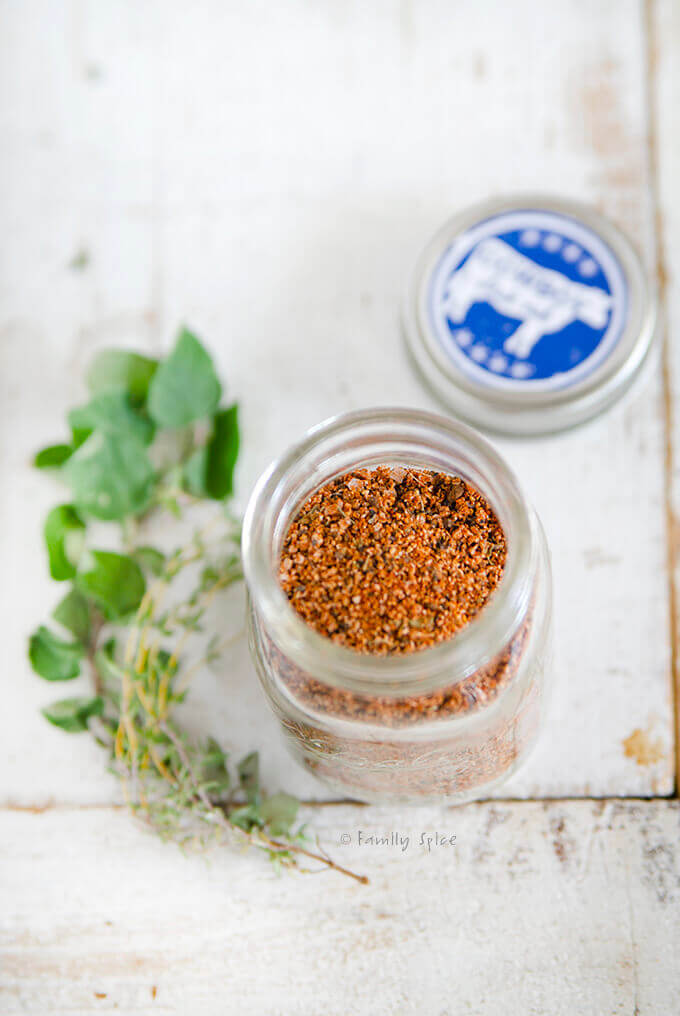 Cowboy Spice Rub in a bottle by FamilySpice.com