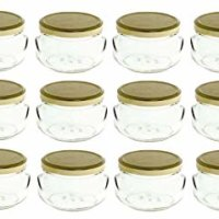 8 oz Glass Tureen Jars
