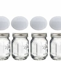 Mini Mason Spice Jar with Dispenser Lid 4oz (4, white)