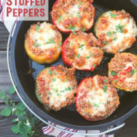 Campfire Dutch Oven Italian Stuffed Peppers