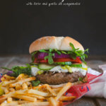 Lamb Burger with Feta and French Fries