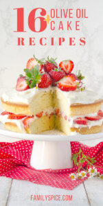Over 12 olive oil cake recipes by FamilySpice.com