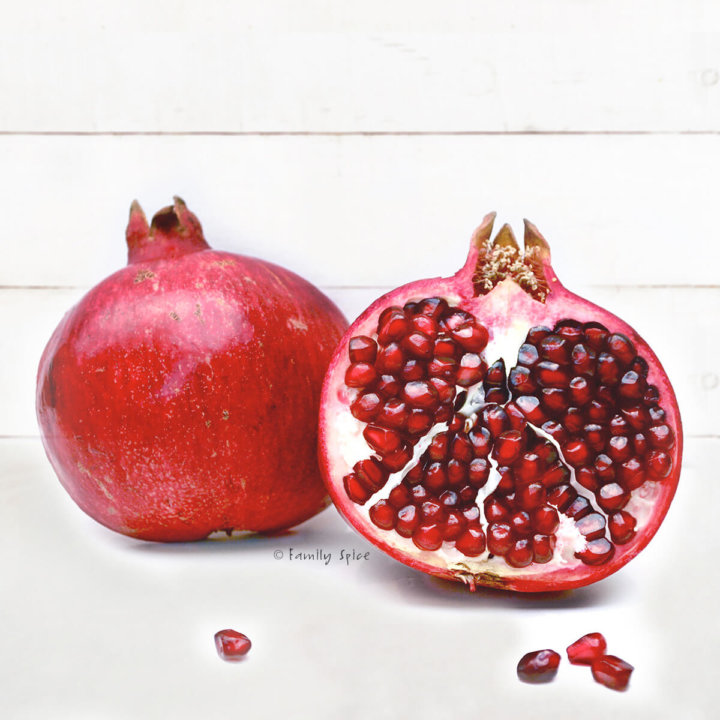How to cut a pomegranate by FamilySpice.com