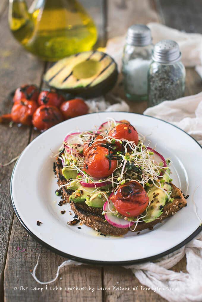 Smokey Avocado Toast from The Camp & Cabin Cookbook by Laura Bashar | FamilySpice.com
