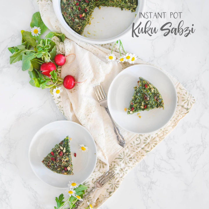 Instant Pot Kuku Sabzi (Persian Herb Quiche)