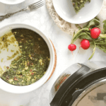 Pinterest image for instant pot kuku sabzi