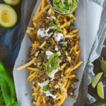 pinterest image for instant pot carnitas fries by FamilySpice.com